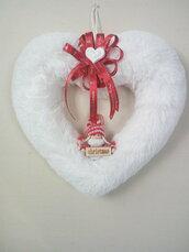 Ghirlanda cuore bianca