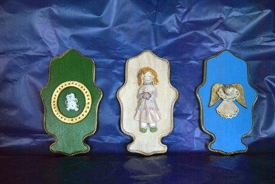 quadretti ceramica su legno