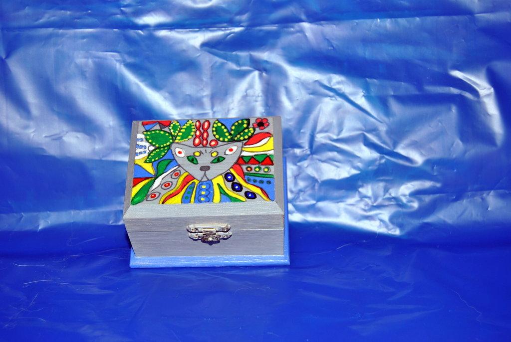 scatola legno dipinto
