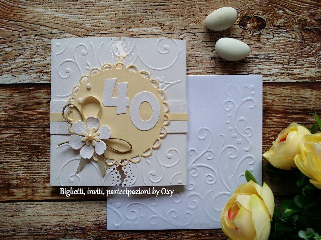 Invito / Compleanno / Anniversario / 40 anni / elegante.