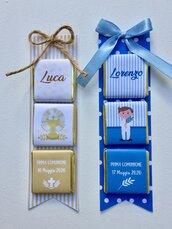 Cioccolatinii personalizzati segnaposto comunione