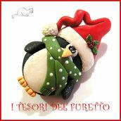 """Spilla Natale """" Pinguino """" fimo idea regalo bambina ragazza donna personalizzabile con nome"""