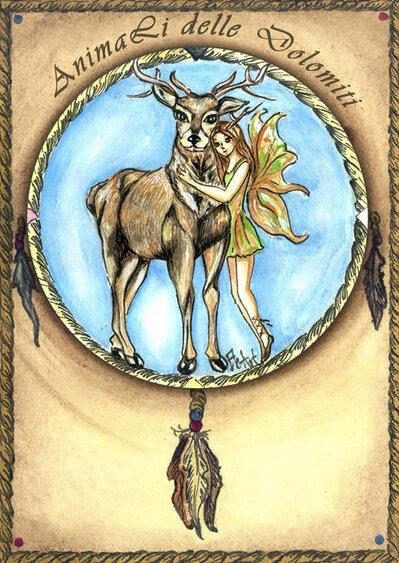 animali guida carte cervo
