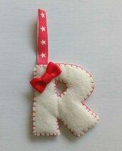 Addobbi natalizi per albero a forma di lettera
