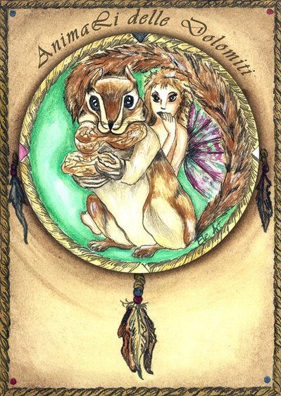 animali guida carte  scoiattolo
