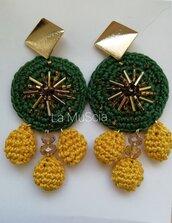 Orecchini Verde Oro