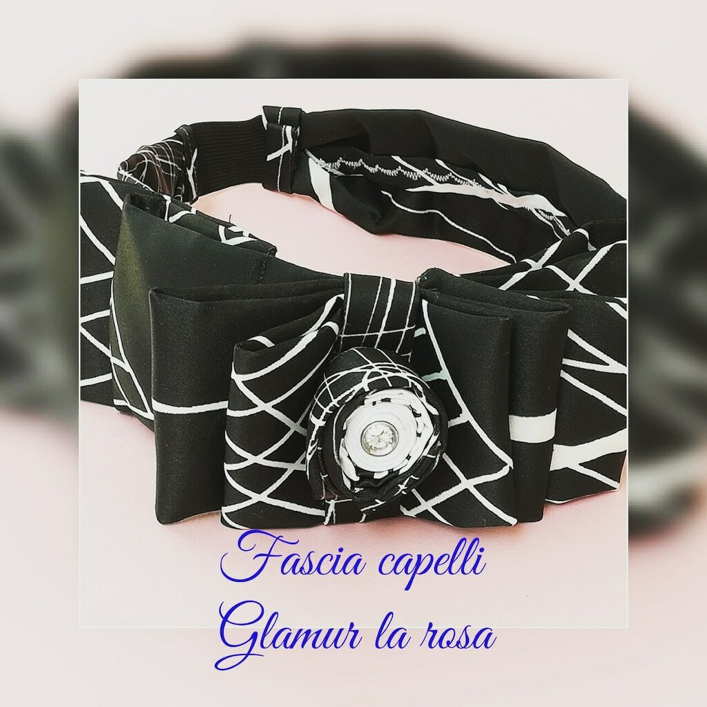 Fascia capelli glamour bianca e nera - Donna - Accessori ...