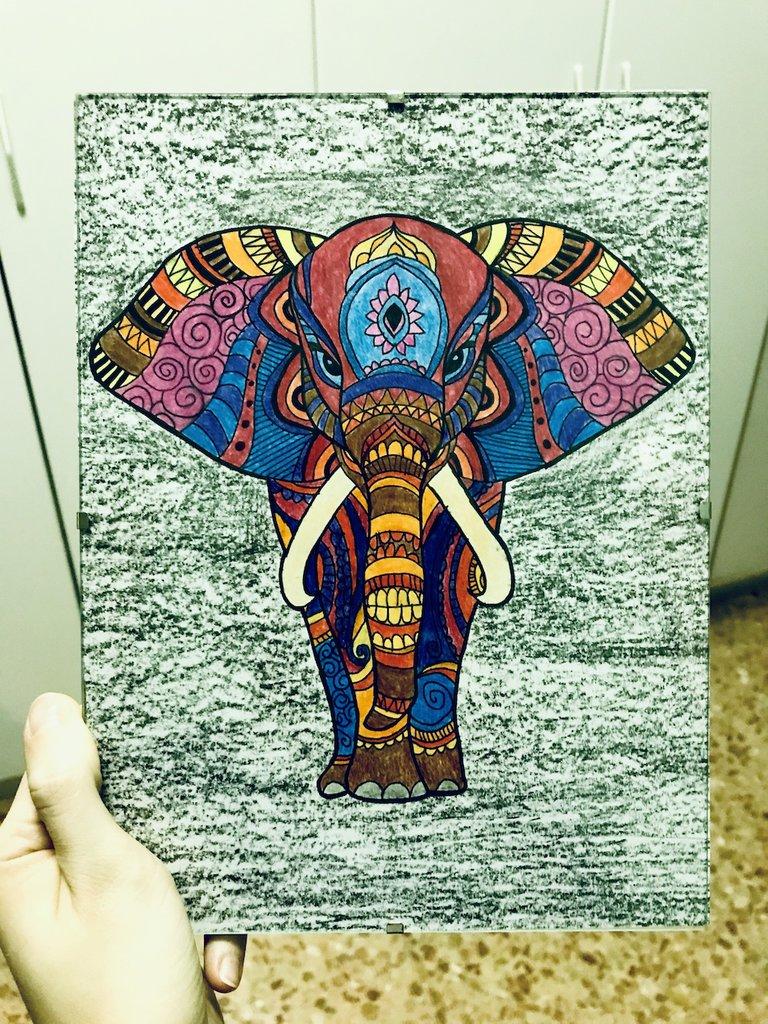 Elefante stile mandala