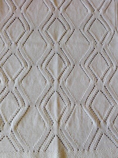 Copertina Bianca per carrozzina in lana merino