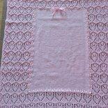 Copertina neonata colore rosa - 100% Lana Merino - ideale per culla e carrozzina