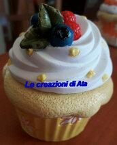 Cupcake in ceramica portaconfetti