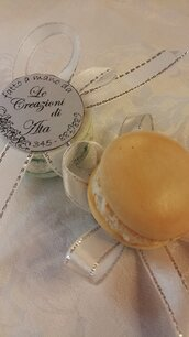 Segnaposto Macarons ,con o senza calamita in ceramica