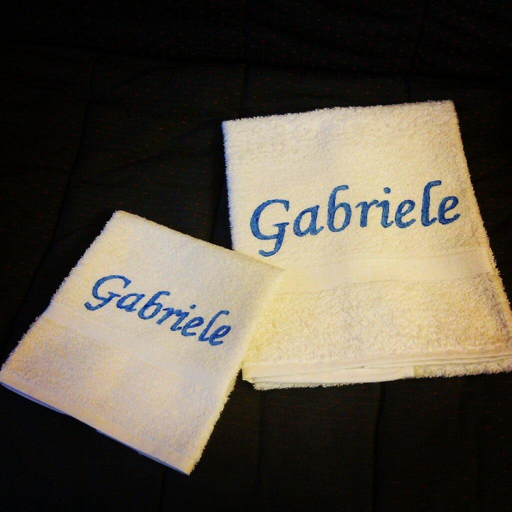 asciugamani personalizzate idea regalo