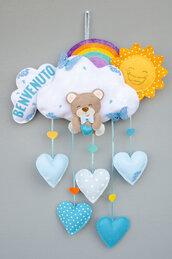 Fiocco nascita orsetto del cuore, 40 x 60 cm
