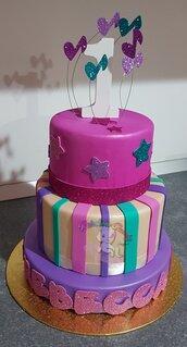 Torta scenografica in gomma crepla- torta in gomma crepla