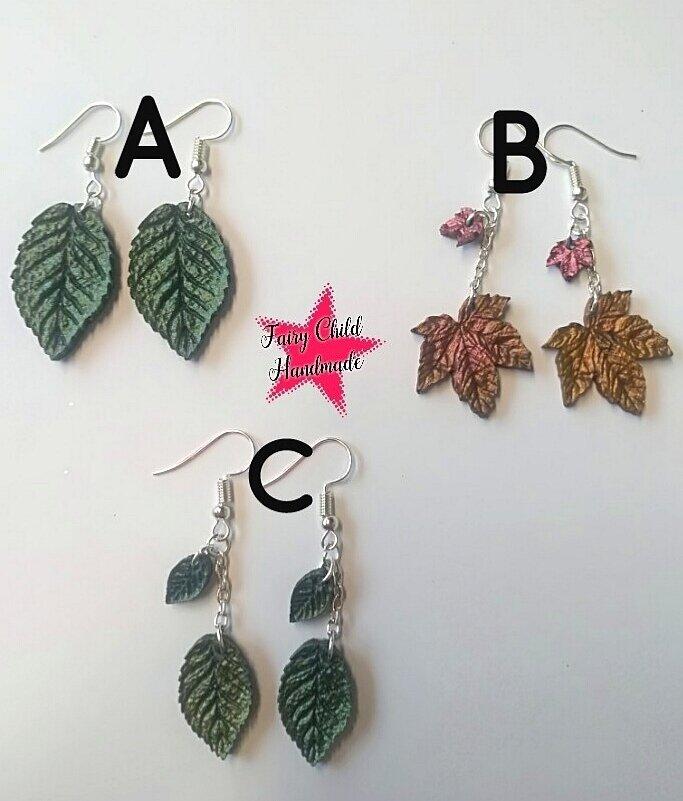 Orecchini pendenti foglie autunnali