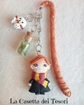SEGNALIBRO CON RON - TEMA MAGHETTO HARRY POTTER - IN FIMO