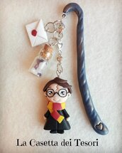 SEGNALIBRO MAGHETTO HARRY POTTER IN FIMO