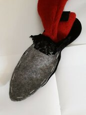 Cartamodello pantofola inverno