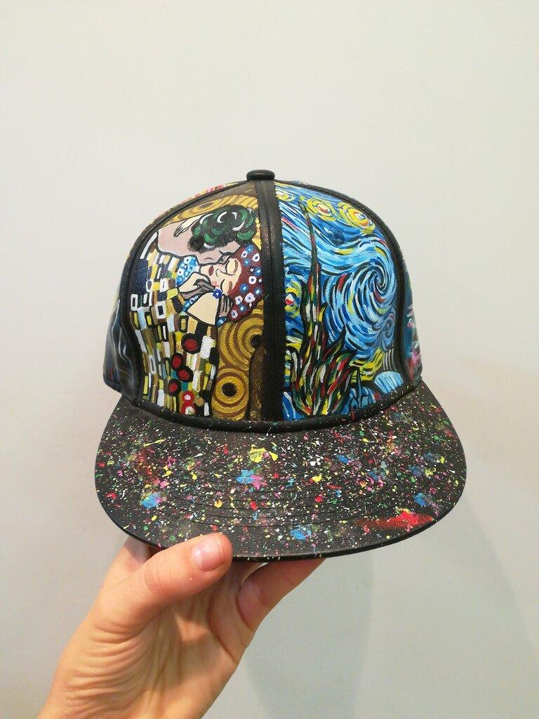 """Cappello """"Arte"""" dipinto a mano - Donna - Accessori - di ..."""