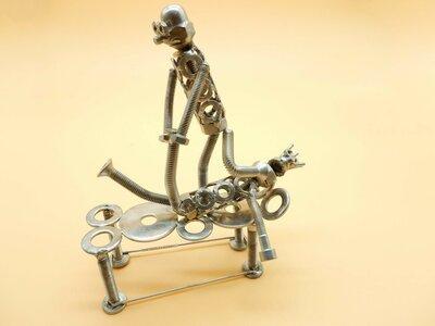 fisioterapista,Metal sculpture  ,osteopata,riabilitazione regalo fisiatra ,regalo fisioterapista art metal sculpture metal