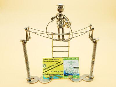 elettricista Metal sculpture regalo elettricista, regalo impiantista, impianti elettrici, regalo impianto elettrico scrap metals