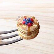 Portachiavi Pancakes alla frutta in Fimo