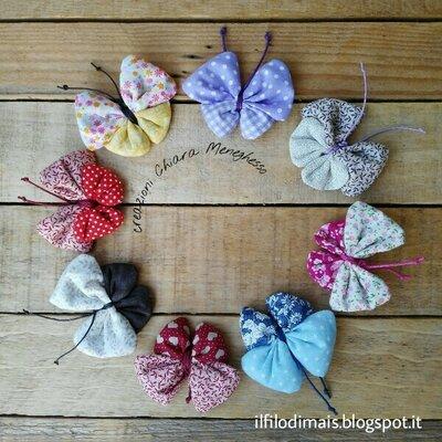 Farfalle di stoffa con profumazione alla lavanda