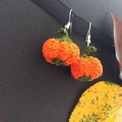 Orecchini zucca  halloween fatti a mano