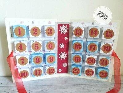 Calendario dell'avvento con scatoline. Calendario avvento. Calendario bambini. Calendario avvento bambini. Calendario dell'avvento.