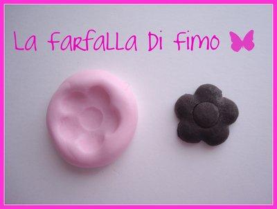 STAMPINI in GOMMA SILICONICA per FIORE piccolo per FIMO, charm. NUOVO!!!