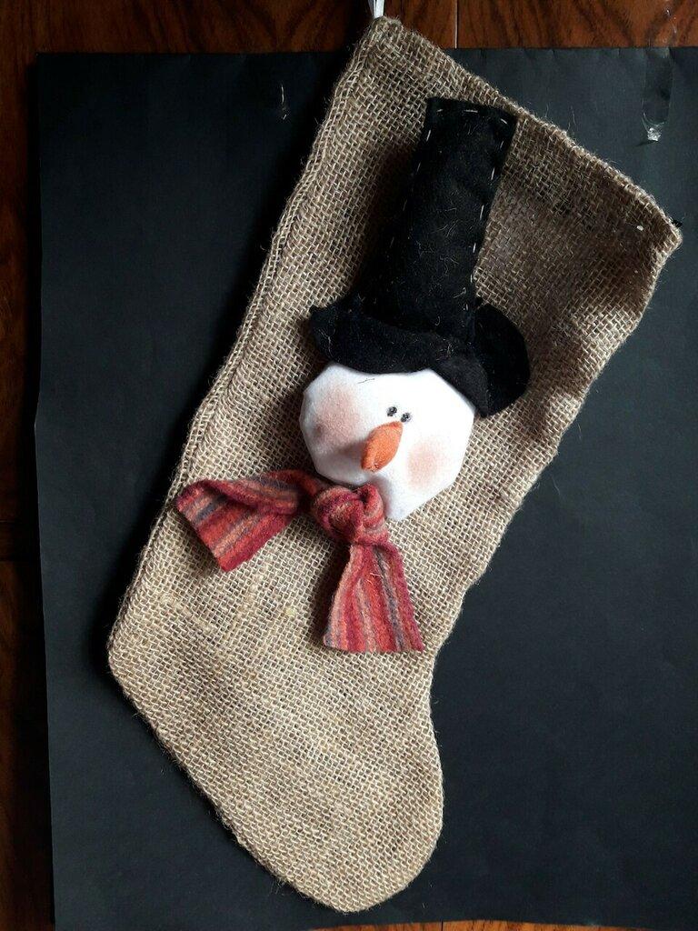 Cartamodello calza Natale