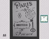 "S5 stencil ""Paris"""