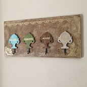 Targa appendi chiavi in legno