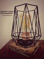 Lampada ferro battuto