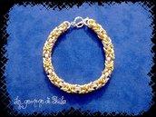 Bracciale maglia bizantina