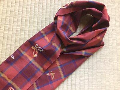 Sciarpa Primavera in tessuto doppio da Kimono /100% seta /144x18cm
