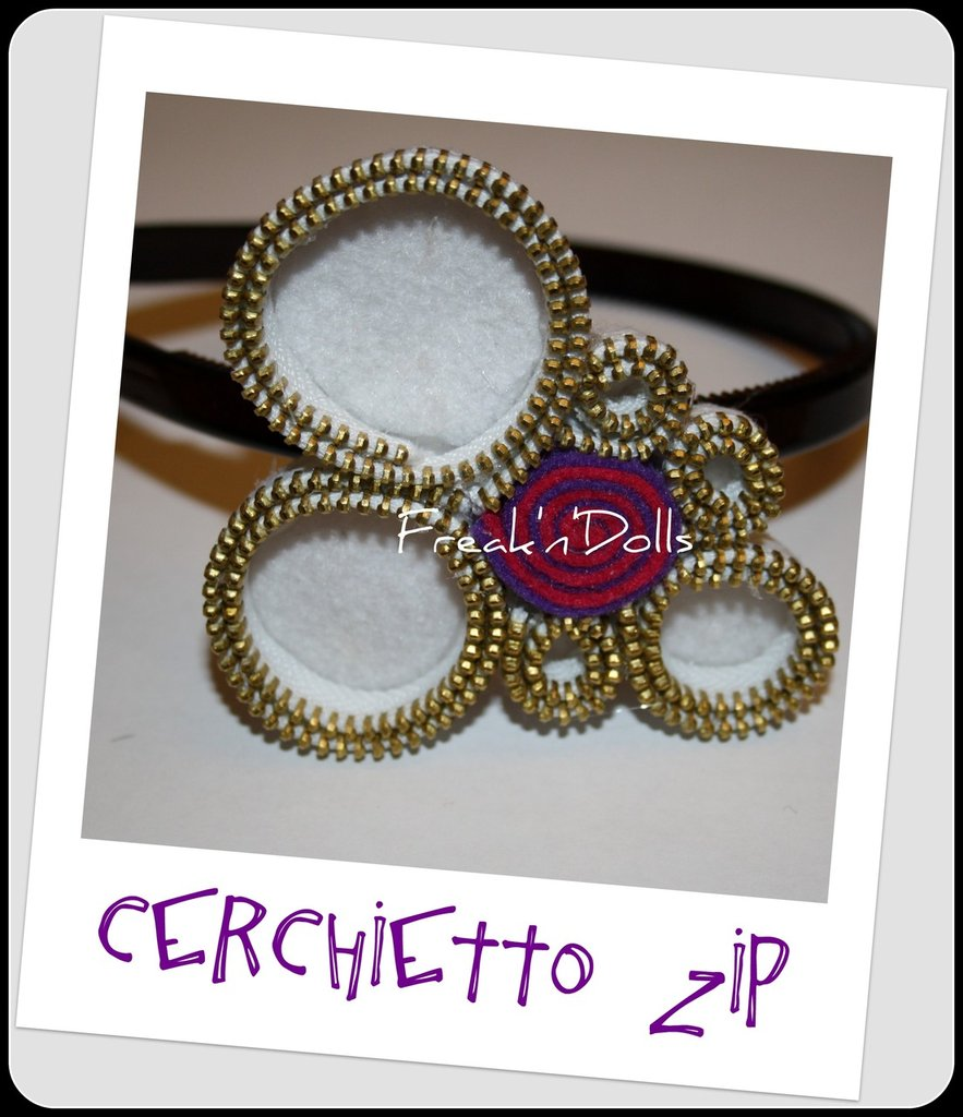 Cerchietto Zip