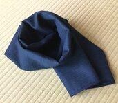 """Sciarpa 100%lana Double face in tessuto elegante """"Tsumugi"""" di Kimono da Uomo /147x38cm Bella&Calda"""