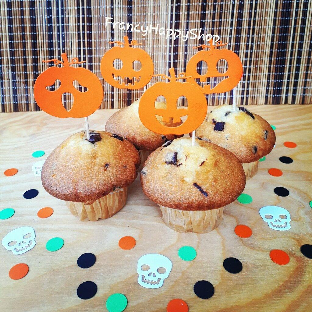 Addobbi Tavola Per Halloween tema halloween zucca cupcake toppers per dolci festa compleanno bambina  bambino nascita,decorazioni di halloween coriandoli,primo compleanno zucca