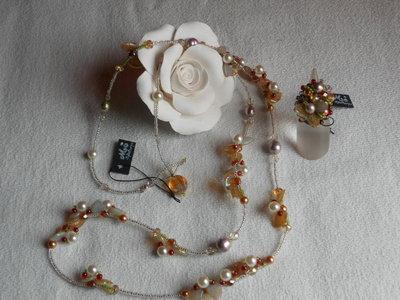 collana lunga e anello