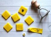 Tortello calamita in pasta di mais