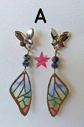 Orecchini farfalla oro
