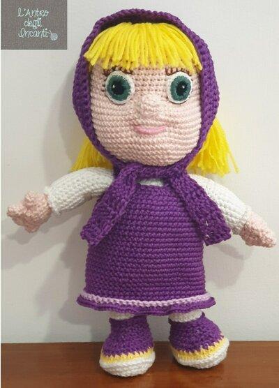 Masha  bambola amigurumi