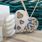 Bomboniera profumatore - diffusore cuore con maioliche
