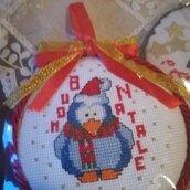 """""""Aspettando il Natale"""". Medaglioni natalizi tutti realizzati completamente a mano mano"""