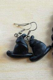 Witch earrings orecchini cappello strega
