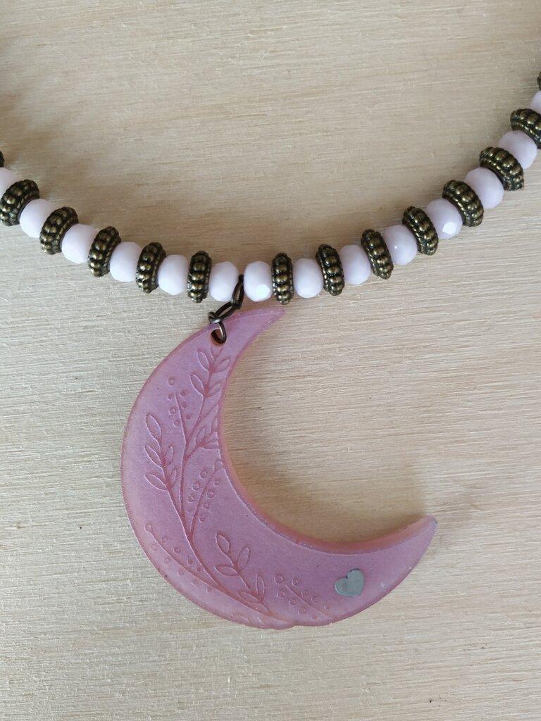 Collana luna rosa
