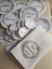 20 sacchetti confettata personalizzati con bordino smerlato battesimo