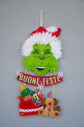 Fuoriporta natalizio, il Grinch, 45 x 23 cm